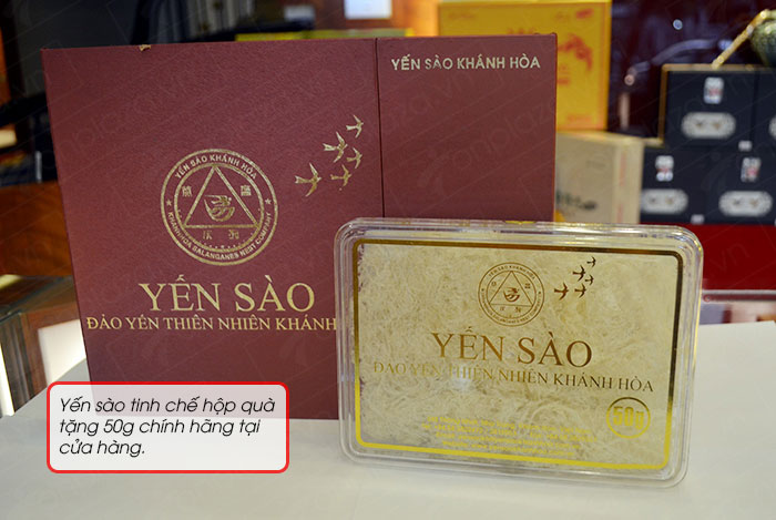 Yến sào tinh chế Khánh Hòa hộp quà tặng 50g(H015G) Y018 6