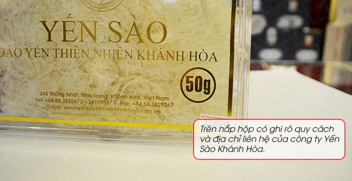 Yến sào tinh chế Khánh Hòa hộp quà tặng 50g(H015G) Y018 7