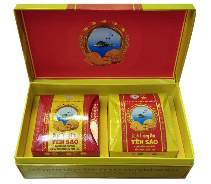 Bánh trung thu Yến sào Khánh Hòa 2 chiếc Sanest 2