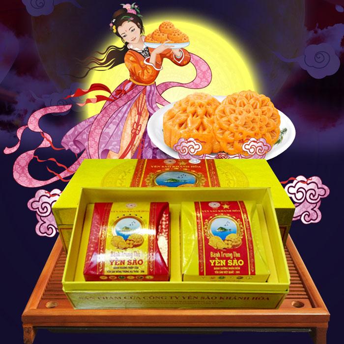 Bánh trung thu Yến sào Khánh Hòa 2 chiếc Sanest