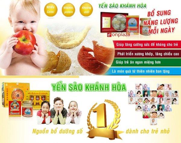 yến sào Khánh Hòa- bổ sung hàm lượng dinh dưỡng cho trẻ