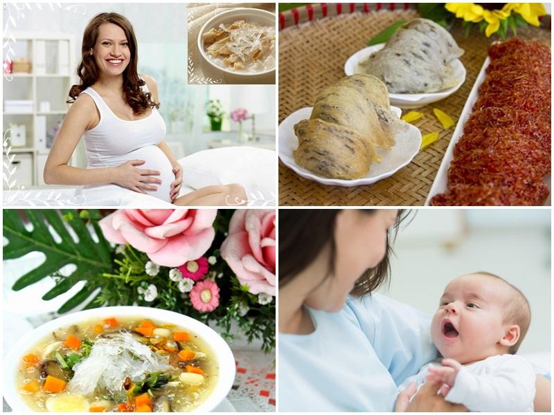 Phụ nữ mang thai và cho con bú đều nên dùng yến sào