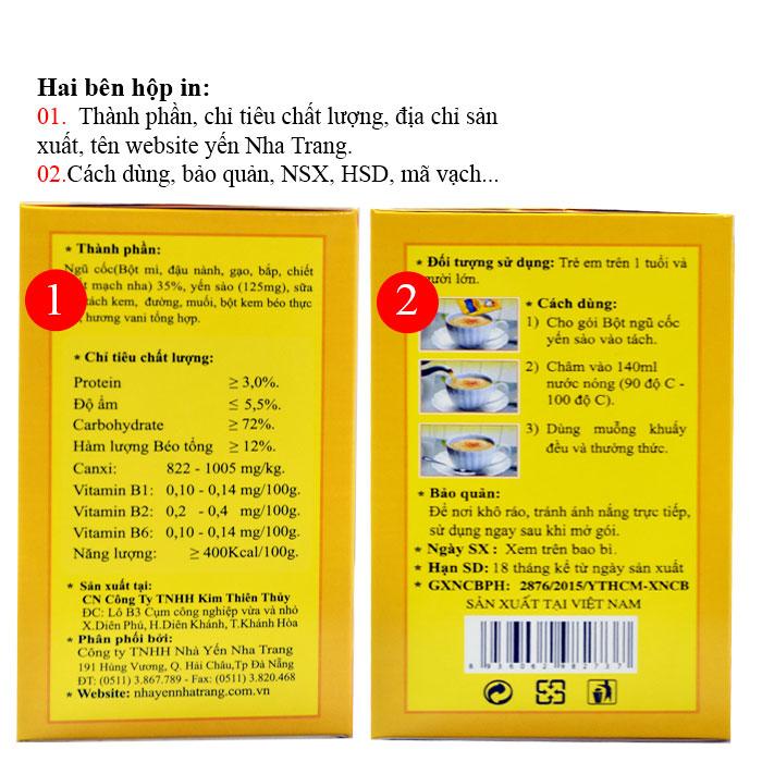 Bột ngũ cốc yến sào PiPi hộp 20 gói Y084 4