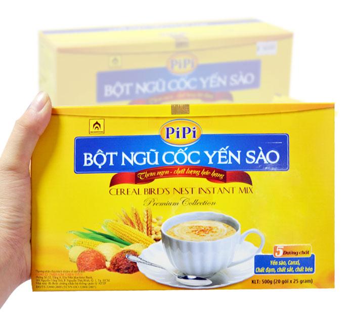 Bột ngũ cốc yến sào PiPi hộp 20 gói Y084 5