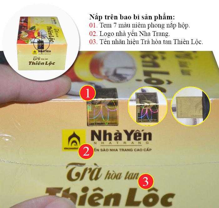Trà Thiên Lộc hòa tan hộp 20 gói Y085 3