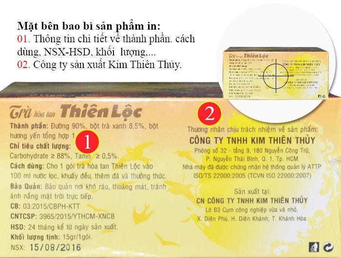 Trà Thiên Lộc hòa tan hộp 20 gói Y085 4