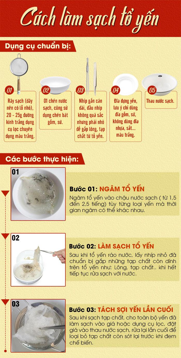 Cách làm sạch tổ yến