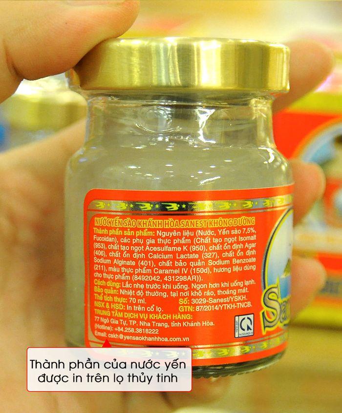 Thùng nước yến sào sanest Khánh Hòa không đường 14