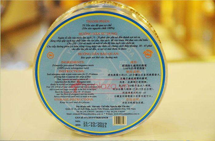 Tổ yến trắng sơ chế 100g (TP1) 100% từ tự nhiên Y001 10