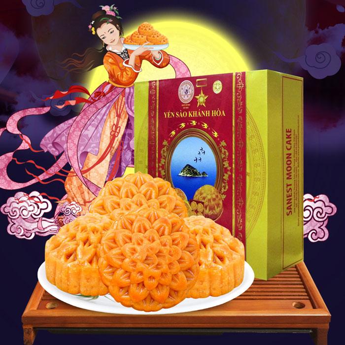 Bánh trung thu yến sào Khánh Hòa Sanest 4 chiếc