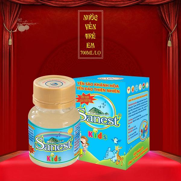 nước yến sào sanest cho con dễ hấp thu dưỡng chất