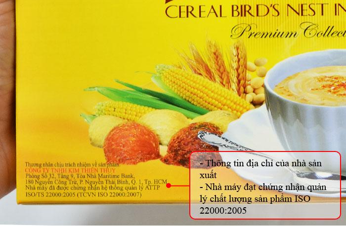 Bột ngũ cốc yến sào PiPi hộp 20 gói Y084 2