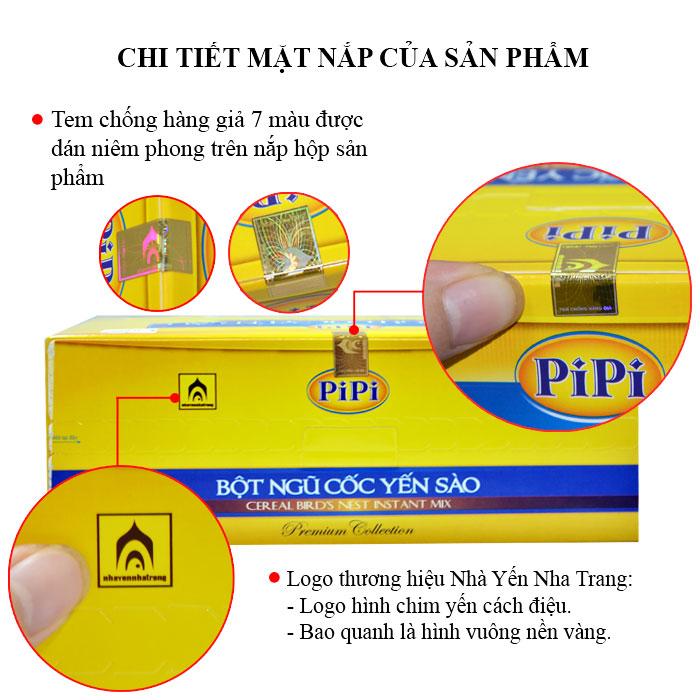 Bột ngũ cốc yến sào PiPi hộp 20 gói Y084 3
