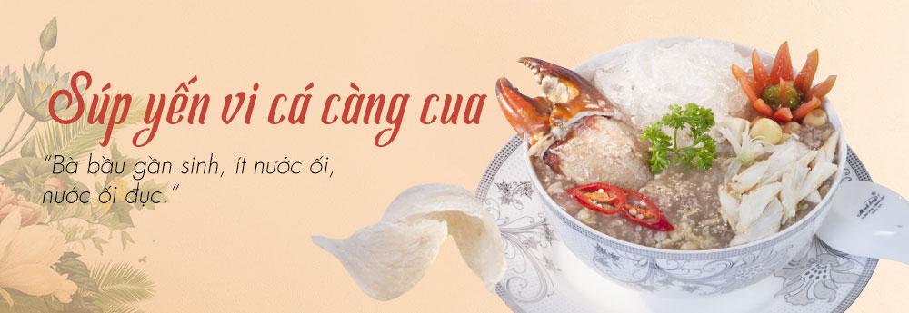 Soup yến vi cá – Bà bầu gần sinh, ít nước ối, nước ối đục